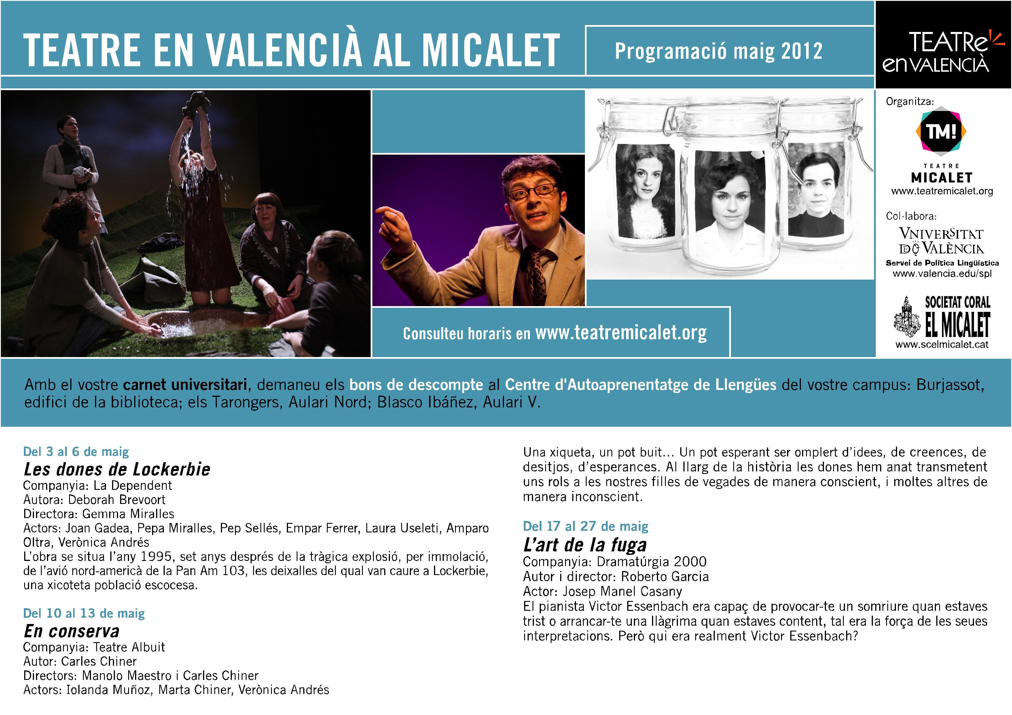 'Teatre en valencià al Micalet'